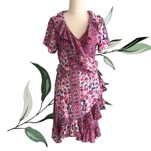 CARTEL AND WILLOW Floral Floyd Wrap Dress